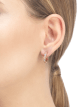 Serpenti Viper 18 kt rose gold earrings set with mother-of-pearl elements and pavé diamonds (0.31 ct) 356170 image 3