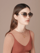 "Serpenti ""Back to Scale"" oval metal sunglasses 904079 image 3"