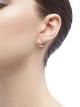 Brincos de argola B.zero1 pequenos em ouro rosa 18K cravejados com pavê de diamantes na espiral. 348036 image 3