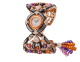 Montre Gemma avec boîtier en or rose 18K avec nacre noire serti de spessartites taille suiffée et diamants taille brillant avec nacre noire, cadran pavé diamants serti «neige», bracelet en or rose 18K avec nacre noire serti de diamants taille brillant, perles de tourmaline, de grenat spessartite, d'améthyste et de nacre noire 102242 image 1