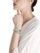 세르펜티 투보가스. 스테인리스 스틸 소재의 케이스와 1줄 브레이슬릿, 브릴리언트컷 다이아몬드가 세팅된 베젤, 실버 오팔린 다이얼. 라지 사이즈 SrpntTubogas-white-dial2 image 4