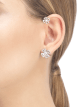 Fiorever 18 kt white gold single earring set with two central diamonds (0.30 ct and 0.10 ct) and pavé diamonds (0.29 ct) 354529 image 2