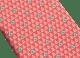 Cravate sept plis Diva Tree rouge en fine serge de soie imprimée. 244107 image 2