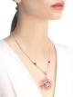 Colar DIVAS' DREAM em ouro rosa 18K cravejado com pedras preciosas coloridas, diamantes lapidação brilhante e pavê de diamantes 355907 image 2