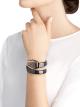 Montre Serpenti Spiga avec boîtier en céramique noire, lunette en or rose 18K, cadran laqué noir, bracelet une spirale en céramique noire avec éléments en or rose 18K. 102735 image 4