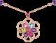 Colar DIVAS' DREAM em ouro rosa 18K cravejado com pedras preciosas coloridas e pavê de diamantes 355617 image 3