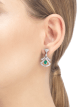 DIVAS' DREAM 18 kt white gold openwork earring set with pear-shaped emeralds (1.20 ct), round brilliant-cut and pavé diamonds (1.48 ct) 356956 image 4