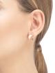 Brincos B.zero1 em ouro rosa 18K e cerâmica branca. 346464 image 3