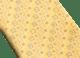 Cravatta sette pieghe gialla con motivo Logo Peter in pregiata seta saglione stampata. 243671 image 2