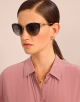 BVLGARI BVLGARI soft cat-eye metal sunglasses featuring a round décor with double logo. 903913 image 3