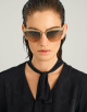 Bulgari B.zero1 B.purevibes half rim cat-eye metal sunglasses. 903895 image 3