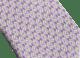 Cravatta sette pieghe verde oliva con motivo Man Essence in pregiata seta saglione stampata. 243644 image 2