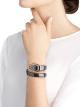 Relógio Serpenti Spiga de uma volta com caixa em cerâmica preta, bezel em ouro rosa 18K cravejado com diamantes lapidação brilhante, mostrador preto laqueado, pulseira em cerâmica preta com elementos de ouro rosa 18K. 102532 image 4