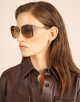 Bulgari Serpenti squared metal sunglasses with Serpenti openwork metal décor with crystals. 903904 image 3