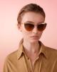 Bvlgari B.zero1 B.purevibes semi-rimless cat-eye metal sunglasses. 903715 image 3