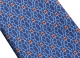 """Siebenfach gefaltete blaue Krawatte mit """"Neon Snake"""" Muster aus feiner Seide. 243676 image 2"""
