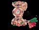 Orologio Gemma con cassa in oro rosa 18 kt con tormaline taglio buff-top, diamanti taglio brillante ed elementi in ametista, quadrante con pavé di diamanti incastonati a neve, bracciale in oro rosa 18 kt con diamanti taglio brillante, elementi in ametista, perle di tormalina, rubellite e smeraldo. 102243 image 2