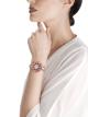 Orologio DIVAS' DREAM con cassa in oro rosa 18 kt con diamanti taglio brillante, perle tonde di rubellite e ametista, quadrante bianco in madreperla e bracciale in oro rosa 18 kt con diamanti taglio brillante. 102080 image 2